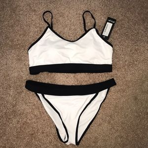 Nasty Gal Crop High Leg Bikini Set